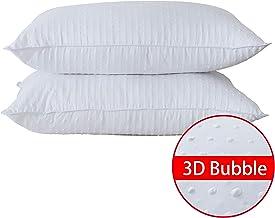 48 x 74 cm comme Le Duvet et Le garnissage en Soie de m/ûrier Housse 100/% Coton avec Soufflet Ultra Doux HOMEFOUCS Lot de 2 oreillers en Duvet de Taille Standard pour Dormir