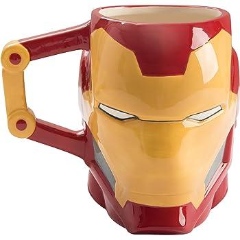 Vandor Marvel Iron-Man Shaped Ceramic Soup Coffee Mug Cup, 20 Ounce