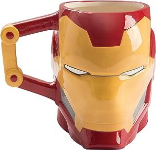 Vandor 26801 Marvel Iron-Man Shaped Ceramic Soup Coffee Mug Cup, 20 Ounce