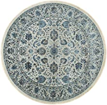 Jaipur Rugs Classic Ivory Round 6 Feet Wool and Silk Oriental Rug and Carpet