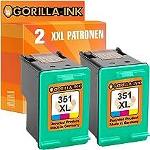 Gorilla-Ink Cartuchos de Impresora compatibles con HP-350 & HP-351XL Negro & Color (05) 2 Patronen Color