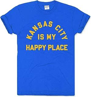 Charlie Hustle Unisex Hometown Kansas City Is My Happy Place T-Shirt