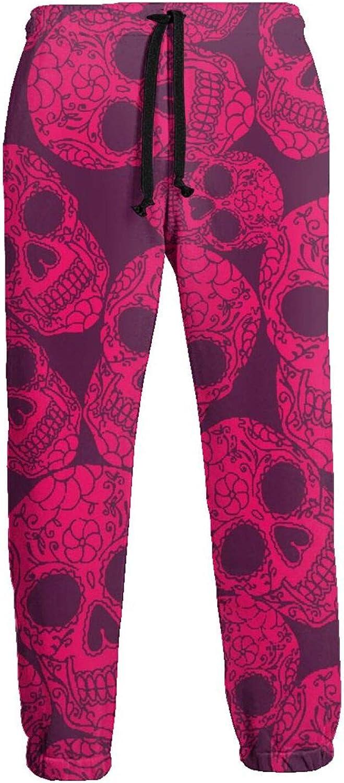 Men's Jogger Sweatpants Sugar Skull 3D Loose Joggers Pants with Drawstring Long Pants