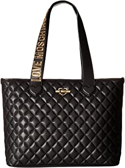 LOVE Moschino - Fashion Quilted Branded Tote