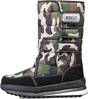 Bottes De Neige Hommes Hiver Chaud Chaude Bootie Anti-Slip Fourrure Doublure Étanche Étanche Slip sur Chaussures De Plein ...
