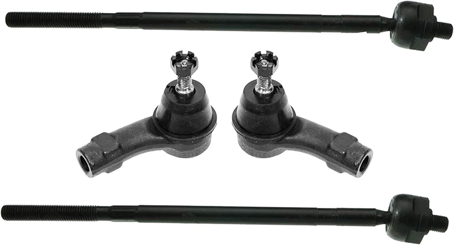 4 Time sale Pc New Tie Rod Ends Inner for Oklahoma City Mall 2000 Focus Outer 2001 Kit Ford