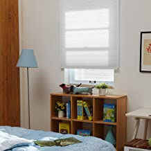 SBARTAR Honeycomb Cellular Shades Cordless Light Filtering for Windows Inside & Outside Mount, 34 x 36 inch, White(Light Filtering)