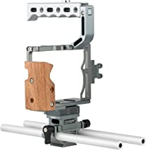 Sevenoak SK-A9C1 Pro Aluminum Camera Cage with Top Handle, Shoe Mount and 15mm Rods - Custom Fit for Sony a7, a7S, a7R, a7 II, a7R II, a7R III, a9 Mirrorless Cameras