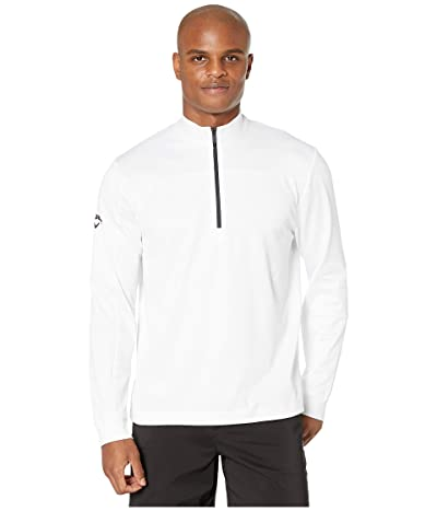 Callaway Stretch Waffle Fleece 1/4 Zip Pullover (Bright White) Men