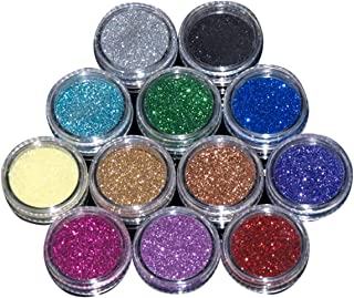 12 Pcs Mixed Color Nail Art Acrylic Glitter Powder DIY Decoration Uv Acrylic Gel Tips