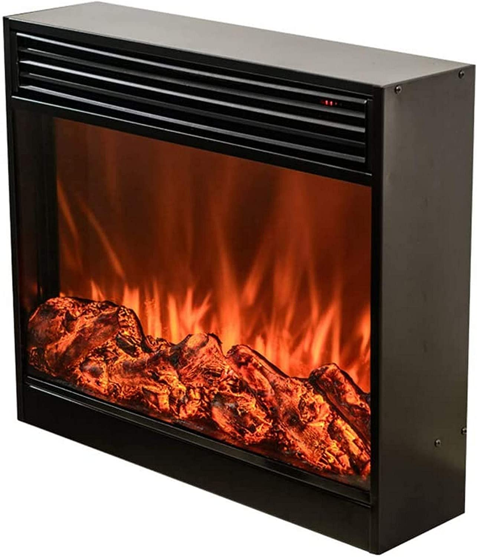 KAUTO Chimenea eléctrica Chimenea Insertar Quemador Calentador de habitación Led Óptico Fuego Artificial Emulación de Llama Decoración Ventilador de Aire Caliente, 750-1500W