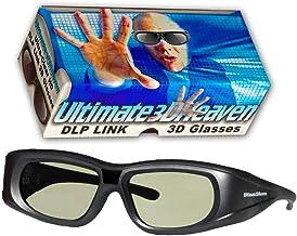 Ultra-Clear HD 144 Hz DLP Link 3D Active Rechargeable Shutter Glasses for All 3D DLP..