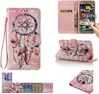 Firefish Galaxy A5 2017 Case, [Card Slots] [Kickstand] Flip Folio Wallet [3D Painting] Case Shell Scratch Resistant Protective Cover for Samsung Galaxy A5 (2017) -Dreamcatcher