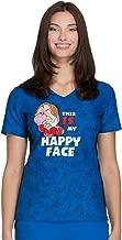 Tooniforms Women's V-Neck Top in Happy Face, Grumpy