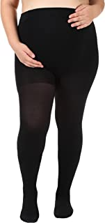 Opaque Maternity Compression Stockings Pantyhose 20-30mmHg, Black XL