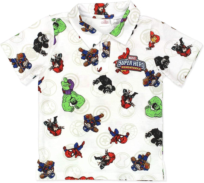 Marvel Super Hero Adventures Toddler Boys Polo Collared Shirt