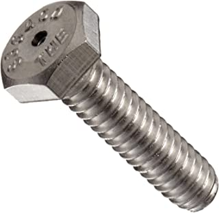 18-8 Stainless Steel Hex Bolt, Plain Finish, Vented, Hex Head, External Hex Drive, Meets ASME B18.2.1, 3/4