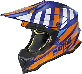 Nolan N53 Cliffjumper Motocross Helm Blau/Orange XXS 54