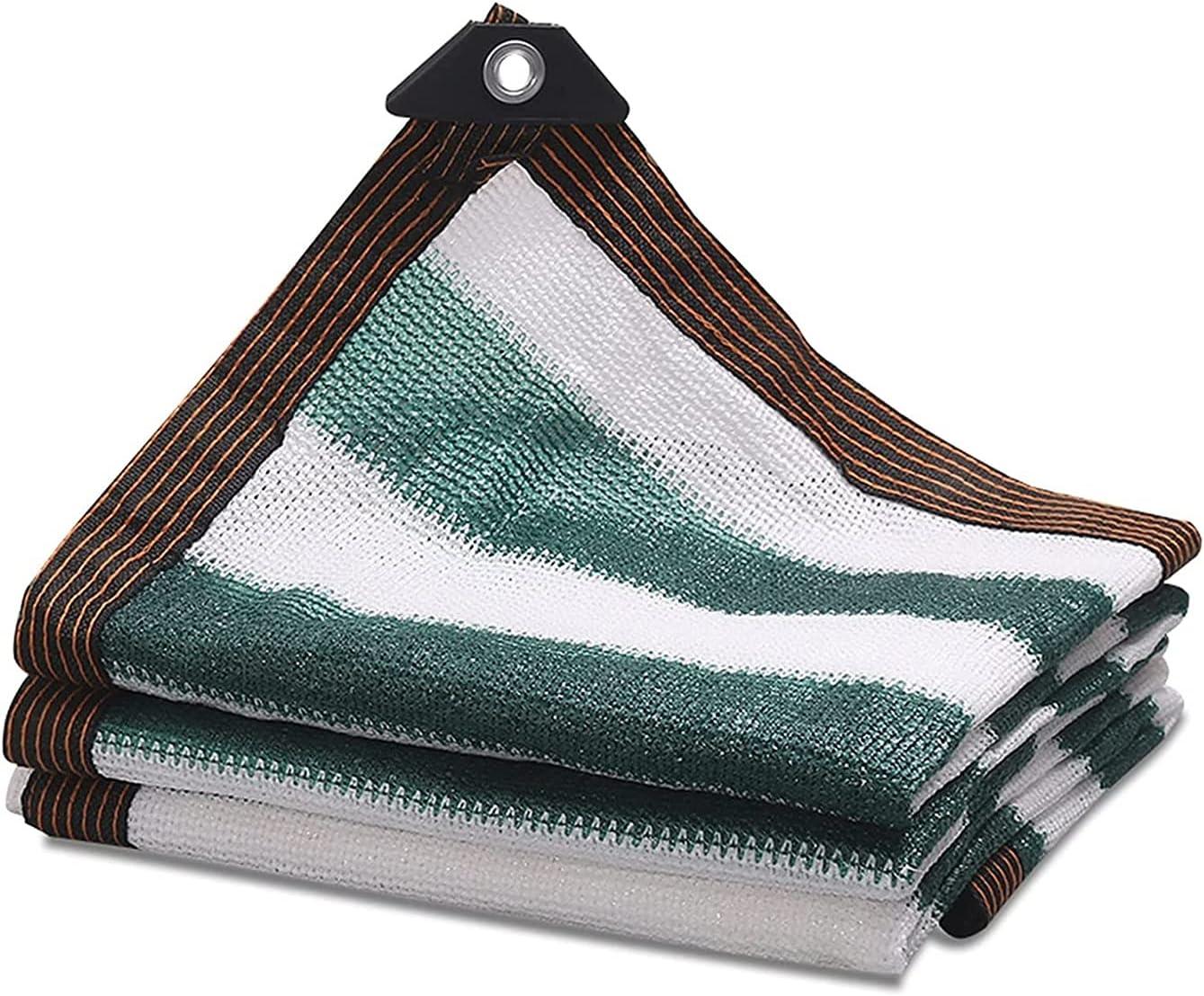 LLCY Shade Cloth Dark Green Max 67% OFF Stripe 90% White Jacksonville Mall Sunbloc