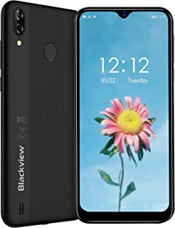 Blackview A60 Pro(2019)スマートフォン SIMフリースマートフォン本体 4Gスマホ本体 Android9.0 6.08インチ 92%画面占有率 5MP+Sony 8MPデュアルカメラ 3GB+16GB 4080mAh大容量バッテリー 顔認識 技適認証済み 携帯電話 1年間保証付き ブラック