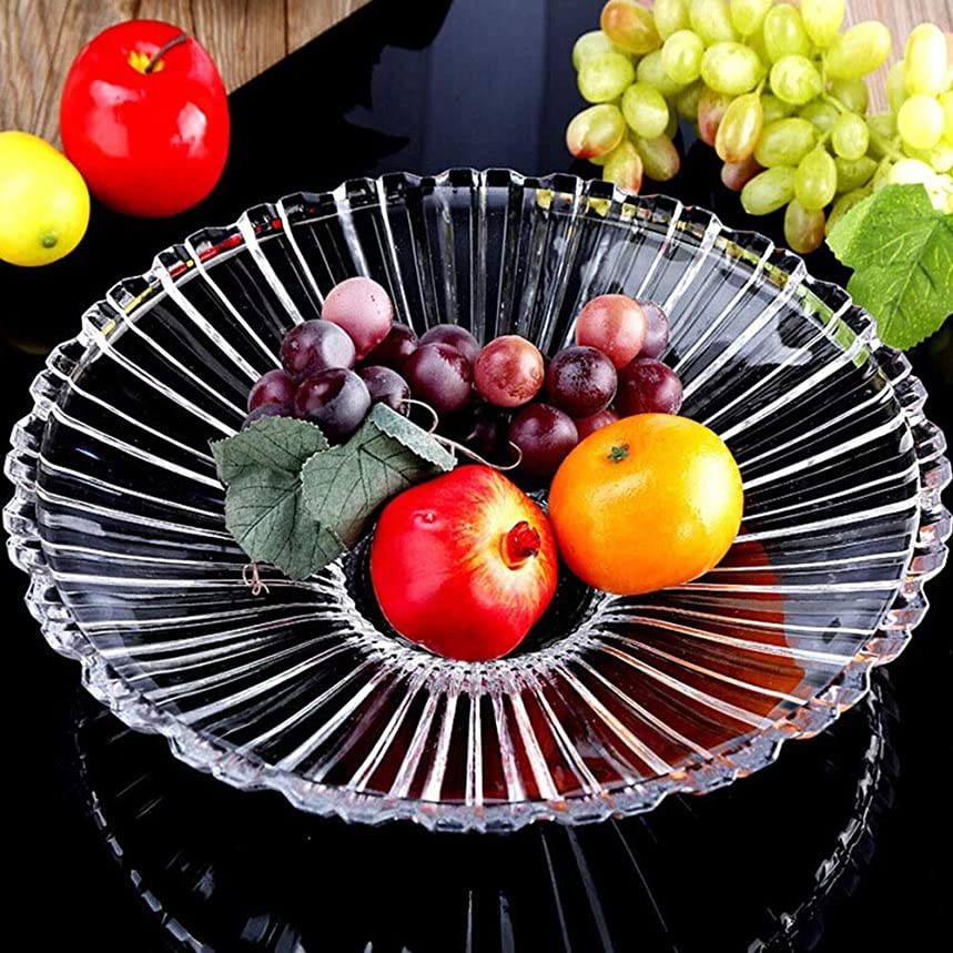 YYH Baskets & Hampers Fruit Storage Living Room Decoration Fruit Plate Drain Basket Fruit Holder Basket Candy Plate Retro Fruit Bowl