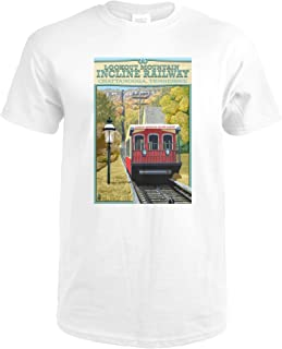 Chattanooga, Tennessee - Lookout Mountain Incline Railway 40886 (Premium White T-Shirt X-Large)