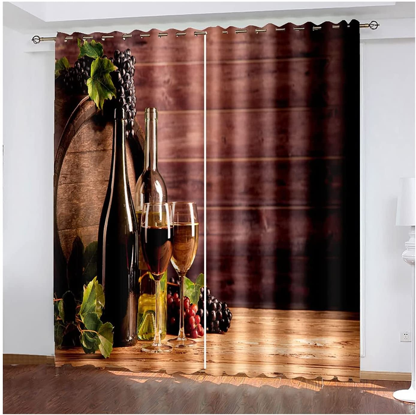 Room Darkening Same day New arrival shipping Curtains 2 Champagne Living Panels