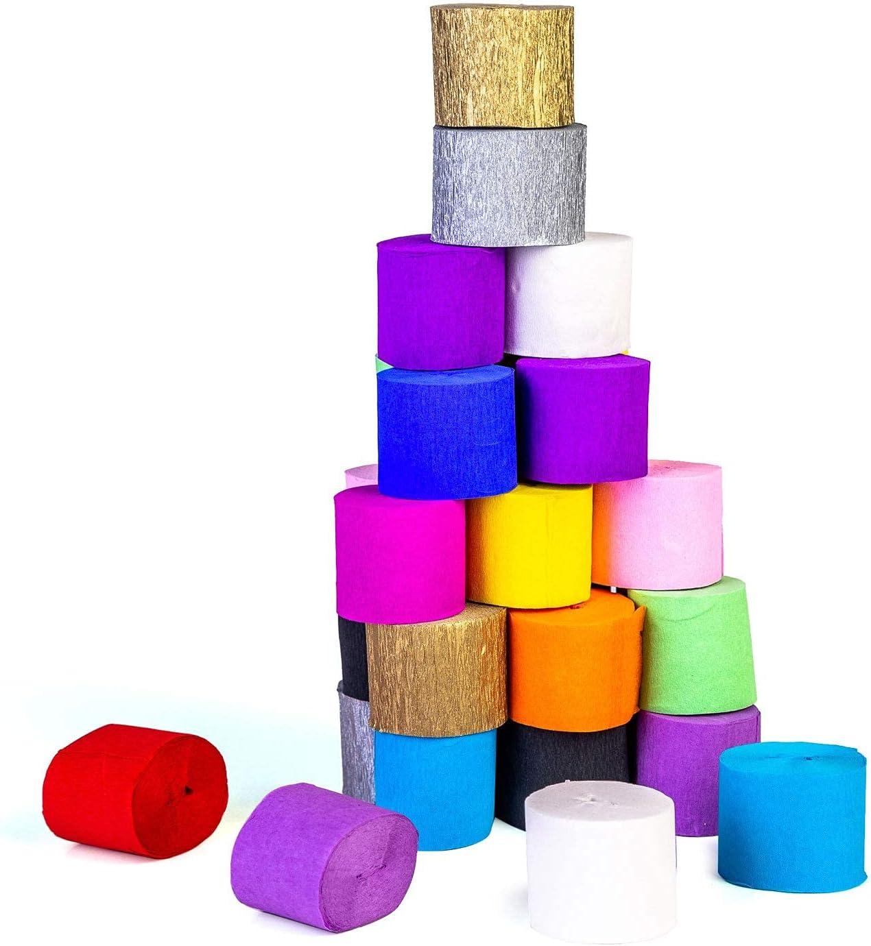 Seasonal Wrap Introduction Reservation 70g Premium Crepe Paper Fiesta Color: 6pcs Rolls