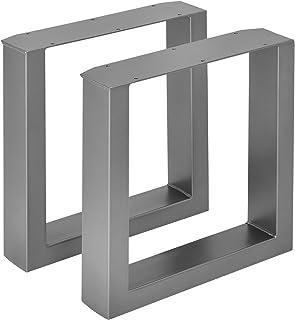 [en.casa] Set de 2 Pieds de Table Pied de Meuble Rectangulaire Pied de Banc avec Protecteur de Sol et Accessoires de Monta...