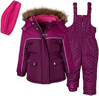 Pink Platinum Girls' Printed Super Snowsuit