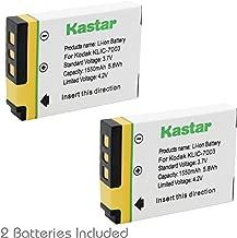Kastar Battery (2-Pack) for Kodak KLIC-7003, K7003 for EasyShare M380, EasyShare M381, EasyShare M420, EasyShare V803, V1003, EasyShare Z950 and GE E1030, E1040, E1050TW, E1240, E1250TW, E850, H855