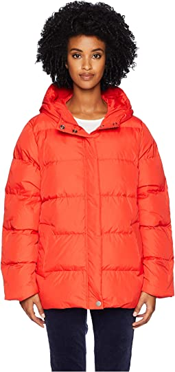 Quilted Recycled Nylon Hooded Coat