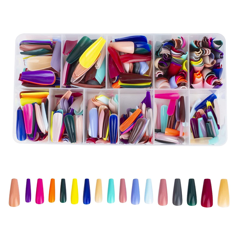 540pcs Ballerina Nail shop Tips supreme with Colorful Box Coffin