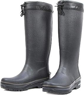 LINGZE Bottes de Pluie mi-Mollet, Chaussures imperméables à Lacets pour Le Jardinage dans la Boue, Semelle antidérapante (...