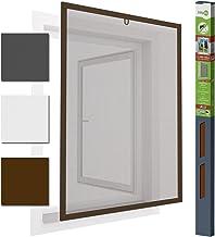 Insectenwerende venster aluminium vliegengaas 100 x 120 cm proLINE bruin