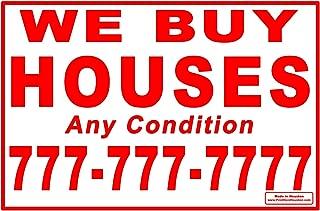 Custom We Buy Houses - 100 Red 12