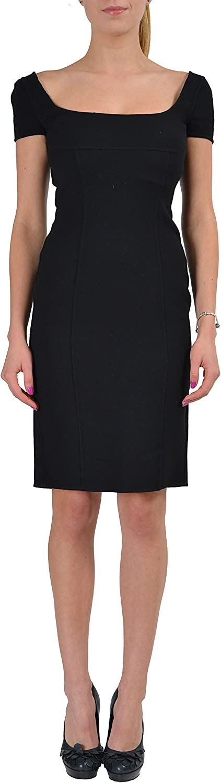 DSQUARED2 Wool Black Short Sleeves Women's Bodycon Dress US S IT 40