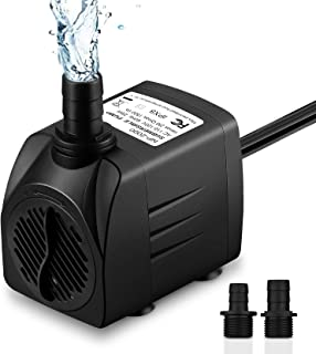 Best Homasy 400GPH Submersible Pump 25W Fountain Water Pump with 5.9ft Power Cord, 2 Nozzles for Aquarium, Fish Tank, Pond, Statuary, Hydroponics Reviews