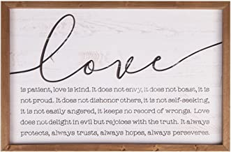 P. Graham Dunn Love is Patient Kind 24.5 x 16 Wood Farmhouse Frame Wall Plaque