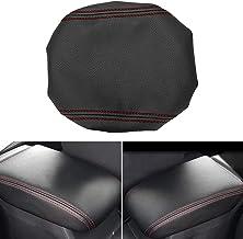 MLING Coche Consola Central Reposabrazos Cubierta Protector en Cuero PU Compatible para Golf 7 MK7 2013-2018 (Rojo)