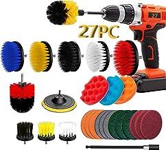 27 Piece Drill Brush Attachment Set, Power Scrubber Drill Brush Kit, Scrub Drill Brush Set With Extend Long Attachment, Sc...