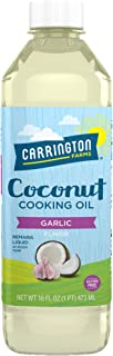 Carrington Farms gluten free, hexane free, NON-GMO, free of hydrogenated and trans fats in a BPA free bottle, liquid coconut cooking oil, garlic flavor, 16 Fl Oz