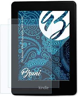 Bruni Schutzfolie kompatibel mit Amazn Kindl Paperwhite (WiFi & 3G) Folie, glasklare Displayschutzfolie (2X)