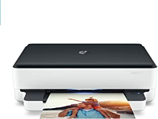 HP Envy 6075 Wireless All-in-One Printer, Mobile Print, Scan & Copy, Compatible with Alexa (8QQ97A) (Renewed)