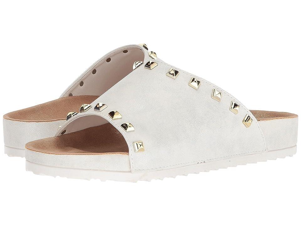 Dirty Laundry Qiana Slide Sandal (White Shimmer) Women