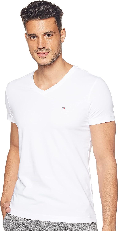 Tommy Hilfiger Core Stretch Slim Vneck tee Camiseta para Hombre