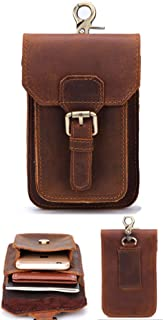 Mens Genuine Leather Small Hook Fanny Waist Bag Hip Bum Pack Cigarette Pouch