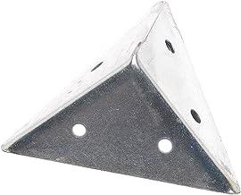 Bulk Hardware BH01162 45 mm verzinkt piramidevormige hoekbevestiging (pak van 4), wit, 4 stuks