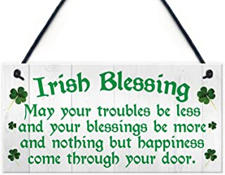 Irish Blessing Happiness Friendship Wood Signs Gifts Plaque Home Decor Door Sign 12x6(YQ153027)