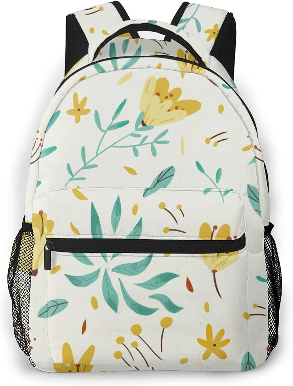 Backpack Unisex School Bag Free shipping anywhere in the nation Ranking TOP10 Fresh Laptop Rucksack Canvas Flowers